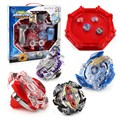 4pcs Bey blade Beyblade Burst Stadium Bayblade Metal Fusion 4D With Launcher Handle Stage Spinning Top Toys Gift Children BB807D