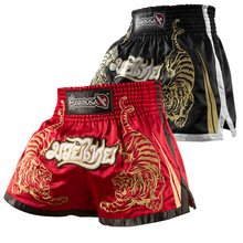 Männer polyester mma shorts muay thai boxingshorts pantalones mma hayabusa schwarz rot tiger kick boxeo sanda stickerei kampf