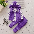 BibiCola fashion baby girls clothing set 3pcs sport suit set spring autumn toddler kids girls clothes suit casual tracksuit