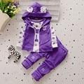 BibiCola fashion baby girls clothing set 3pcs sport suit set spring autumn toddler kids girls clothes suit casual tracksuit