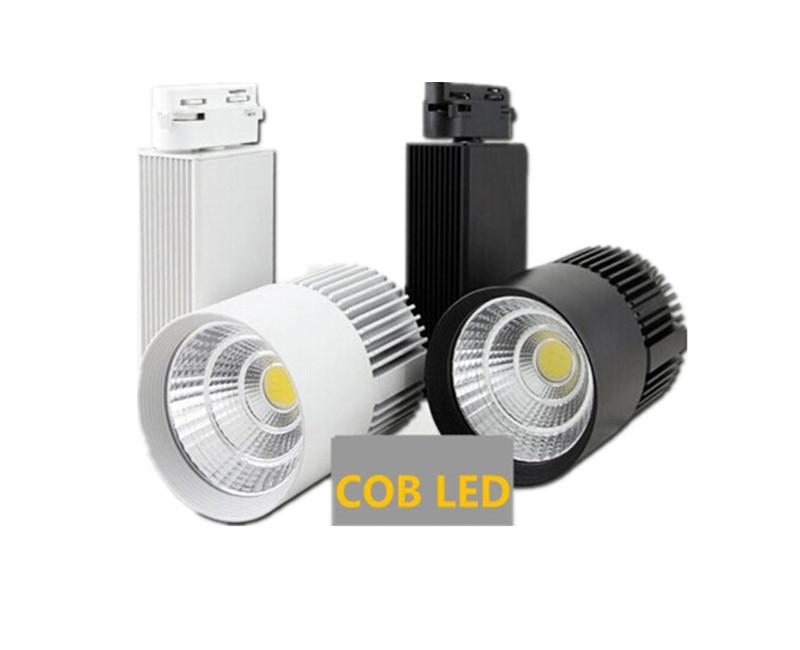 30 W COB LED Rail lumière Rail lumière projecteur bande égale to200w halogène lampe 110 v 120 v 220 v 230 v 240 v v Rail lampe