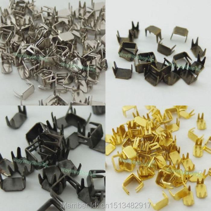 250 Pcs Bronze Zipper Stopers Top Stops #3 For Spiral Slider Bottom Rescue Aluminum