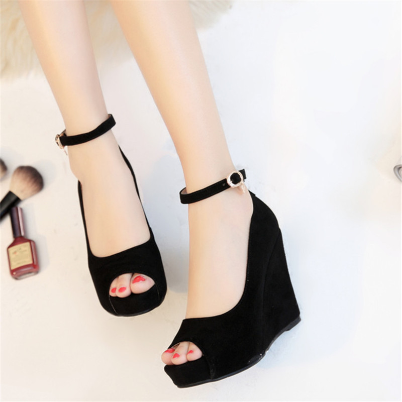 ФОТО 2016 open toe ultra high heels female sandals small yards 30 31 32 33 plus size 40 41 42 43 44