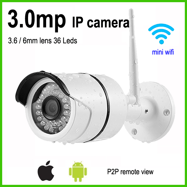 Mini bullet wifi ip camera 3mp weatherproof outdoor wireless home surveillance security system bullet camera tube camera headset holder with varied size in diameter