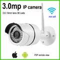Mini bullet wifi ip camera 3mp weatherproof outdoor wireless home surveillance security system