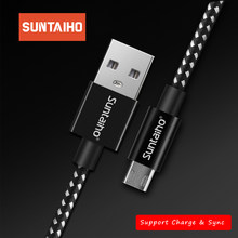 Suntaiho 2.4A Micro USB Cable Phone Fast Charging Cable for Samsung Huawei Xiaomi Redmi Micro usb Charger Cable Micro USB Cord(China)