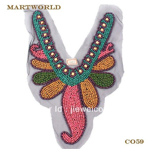 wholesale wood bead neckline factory price express shiping door to door (C059)
