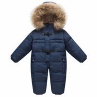 Baby Outerwear Coat Girls Boys Snow Wear Rompers Children's Winter Jumpsuit Enfant Ski Hooded Fur Snowsuit Child Carnaval Outfit