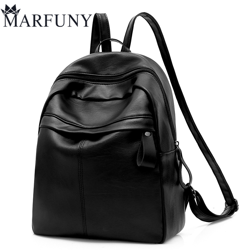 Black Women Backpack Fashion Pu Leather Backpack High Quality Daypack School Bags For High School Girls Solid Women Bag Mochila annmouler women fashion backpack pu leather shoulder bag 7 colors casual daypack high quality solid color school bag for girls