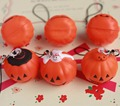 wholesale 20pcs/lot kawaii Halloween pumpkin squishy 3cm squeeze bun toys for cell phone handbag strap cute squishies bread