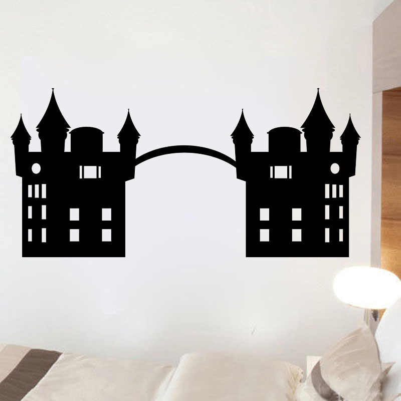 ZOOYOO New Arrival Fairy Tale Castle Wall Sticker Home Decor Removable Living Room Decoration Princess Bedroom Wall Decals Art