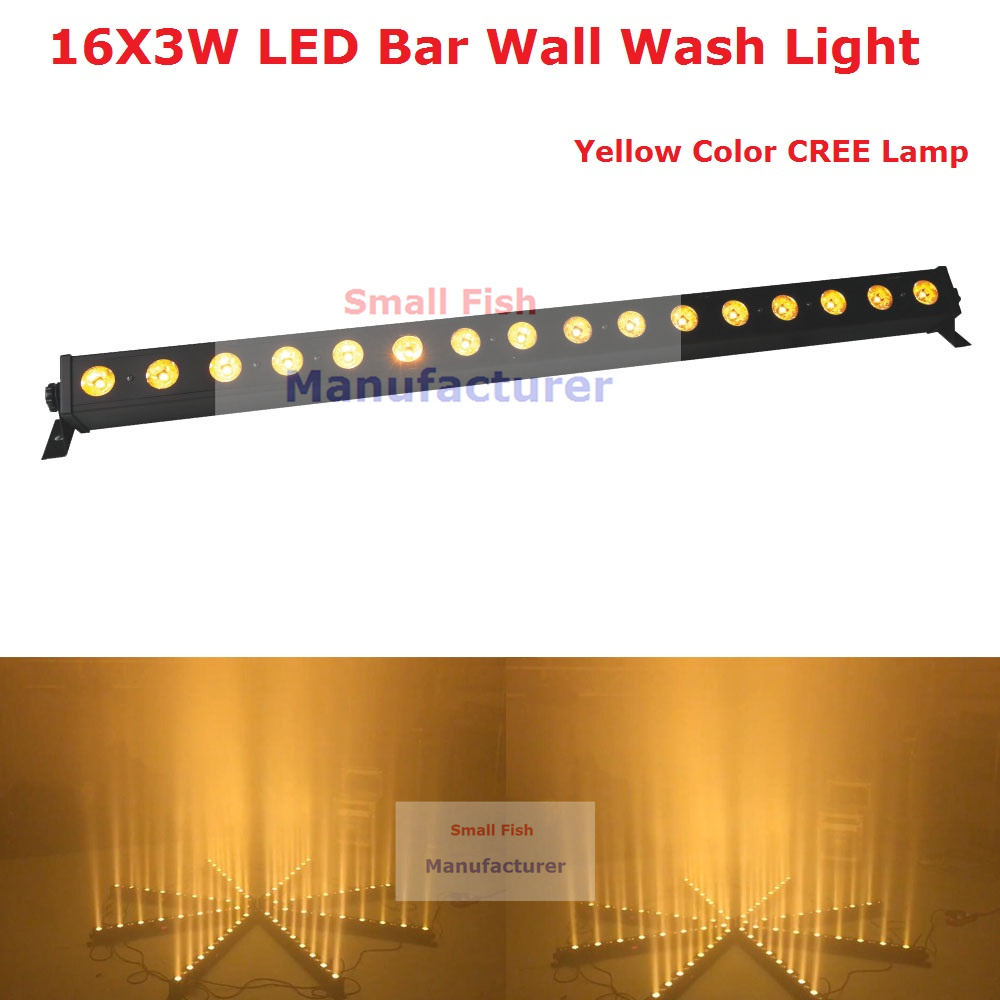2020 New Arrival 1Pcs/Lot 70W Led Wall Washer Light 16X3W Yellow Color Led Wall Lights With Running Funtion For Stage Dj Lights