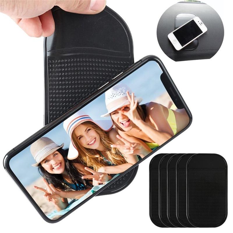 kongyide Car Anti-Slip Mat 5Pcs Car Magic  Non-slip Mat Dashboard Sticky Pad Holder For GPS SmartPhone Black dropship ap18