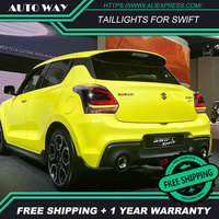 Car Styling tail lights case for Suzuki Swift 2017 2019 Swift taillight LED Tail Lamp DRL fog lights rear trunk lamp cover