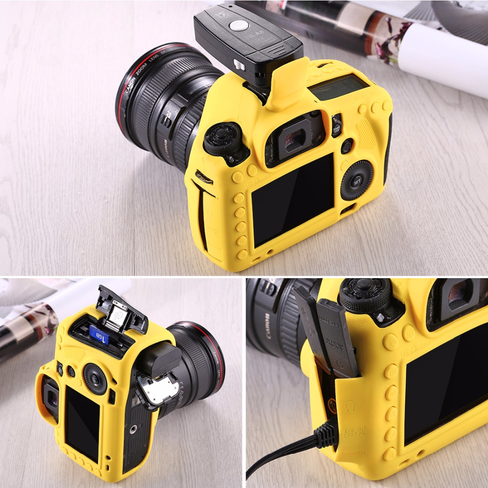 PULUZ Cover Case For Canon EOS 5D Mark III 5D3 Soft Silicone Rubber Camera