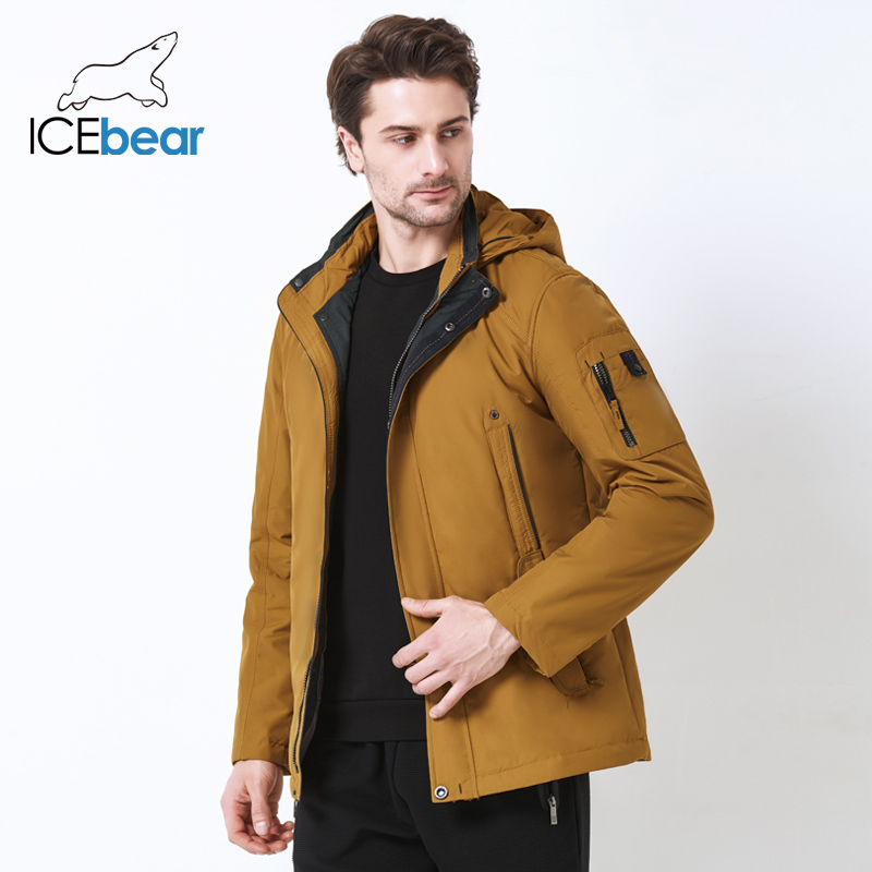 ICEbear 2019 New Men's Coat Large Size Polyester Spring Jacket Men   Parka   Casual Brand Warm Coat 17MC853D