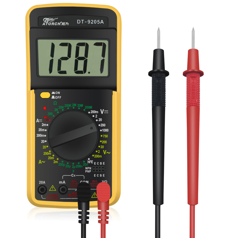 ATORCH Digital Multimeter Multimetro Voltage Tester Current Resistance Tester Capacitance Frequency Temperature multimetre peakmeter pm18c digital multimeter measuring voltage current resistance capacitance frequency temperature hfe ncv live line te
