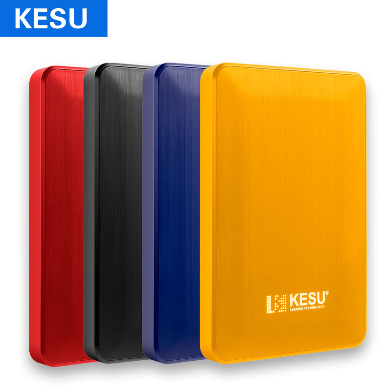KESU External Hard Drive Disk USB3.0 HDD 120G 160G 320G 500G 1TB 2TB HDD Storage For PC, Mac,Tablet, Xbox, PS4,TV Box 4 Color