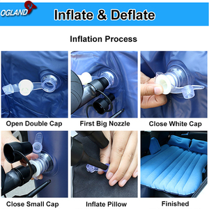 OGLAND Car Air Inflatable Travel Mattress Bed for Car Back Seat Mattress Multifunctional Sofa Pillow Outdoor Camping Mat Cushion