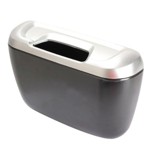 Car trash bin car trash can trash bags Black & Silver)