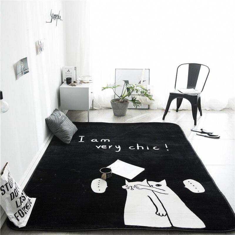Couple Cat Print Pattern 1 Insole Carpet Entrance Indoor Non-Slip Floor Mat Bathroom Mat Decoration Mat
