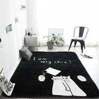 Couple Cat Print Pattern 1 Insole Carpet Entrance Indoor Non Slip Floor Mat Bathroom Mat Decoration Mat