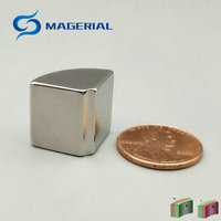 N45H NdFeB Arc Segment OR15xIR2x90deg X16mm Moto Magnet For Generators Wind Turbine Neodymium Permanent Rotor Magnet