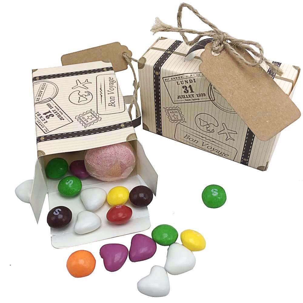 50 stücke Kreative Mini Koffer Candy Box Süßigkeiten Verpackung ...