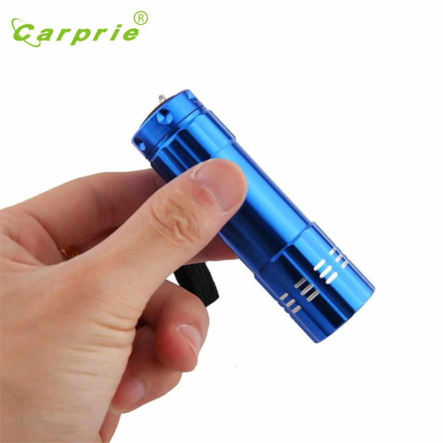 Carprie мини фонарик мини алюминиевый УФ фиолетовый 9 светодиодный сигнальный огонь, фонарик фонарь лампа открытый l70419 прямая ship-S30