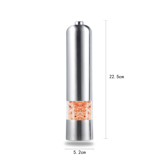Stainless steel electric mill grinder pepper