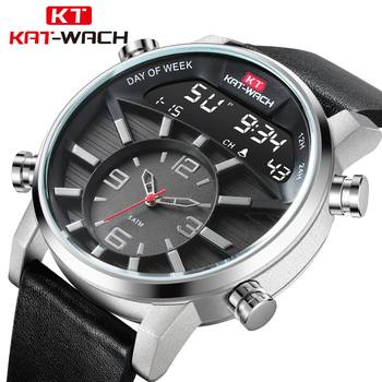 Men Watch Waterproof 50M Quartz Watches Male Luxury Brand Leather Military Digital Watch for men relogio masculino kol saati image