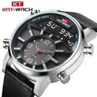 Relógio masculino à prova d50 água 50 m relógios de quartzo masculino marca de luxo couro militar relógio digital para homem relogio masculino kol saati