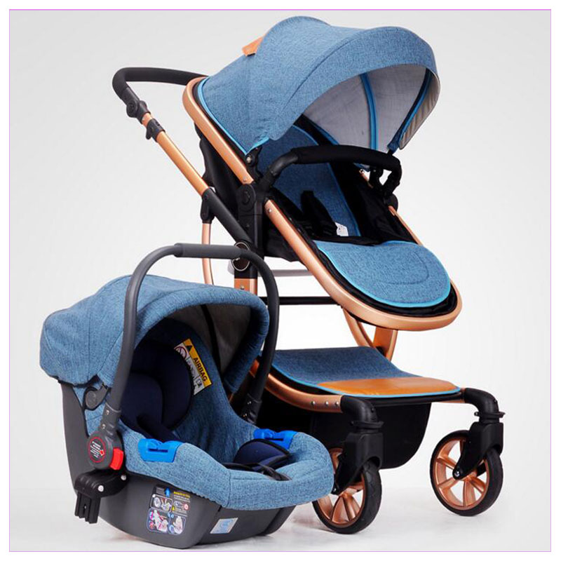 High View Baby Stroller 3 In 1 Baby Car Travel System Baby Carriage Stroller with Car Seat Three-way Luxury Infant Baby Stroller все цены