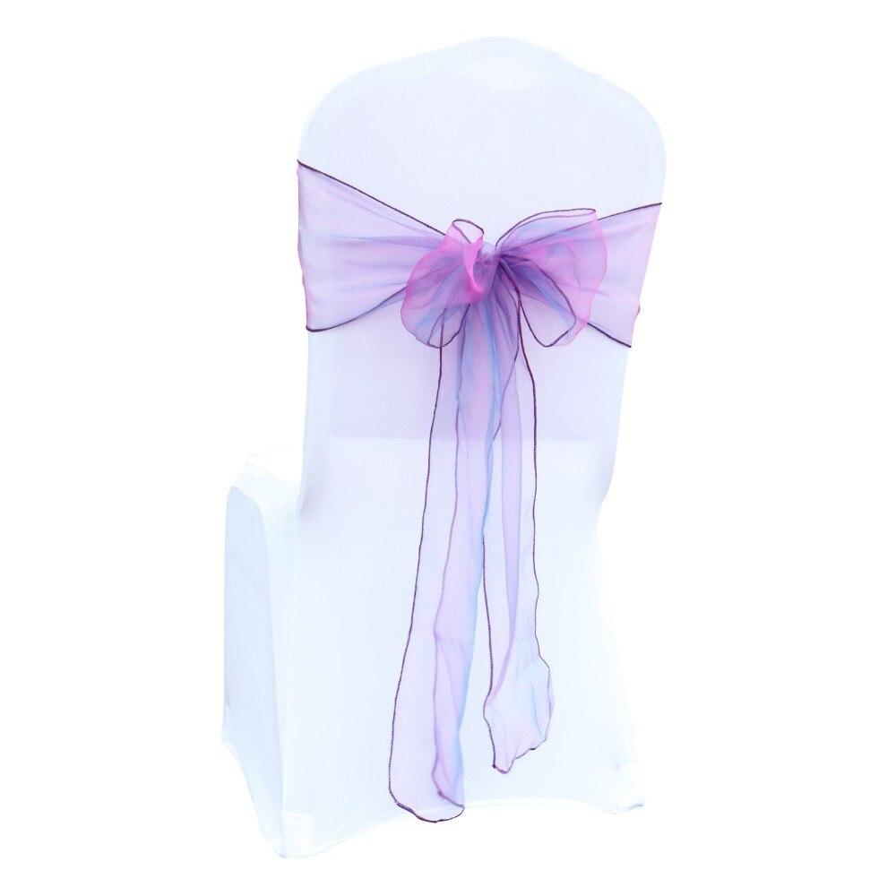Chair Cover Sashes Organza Material 10 PCS Wedding Sash