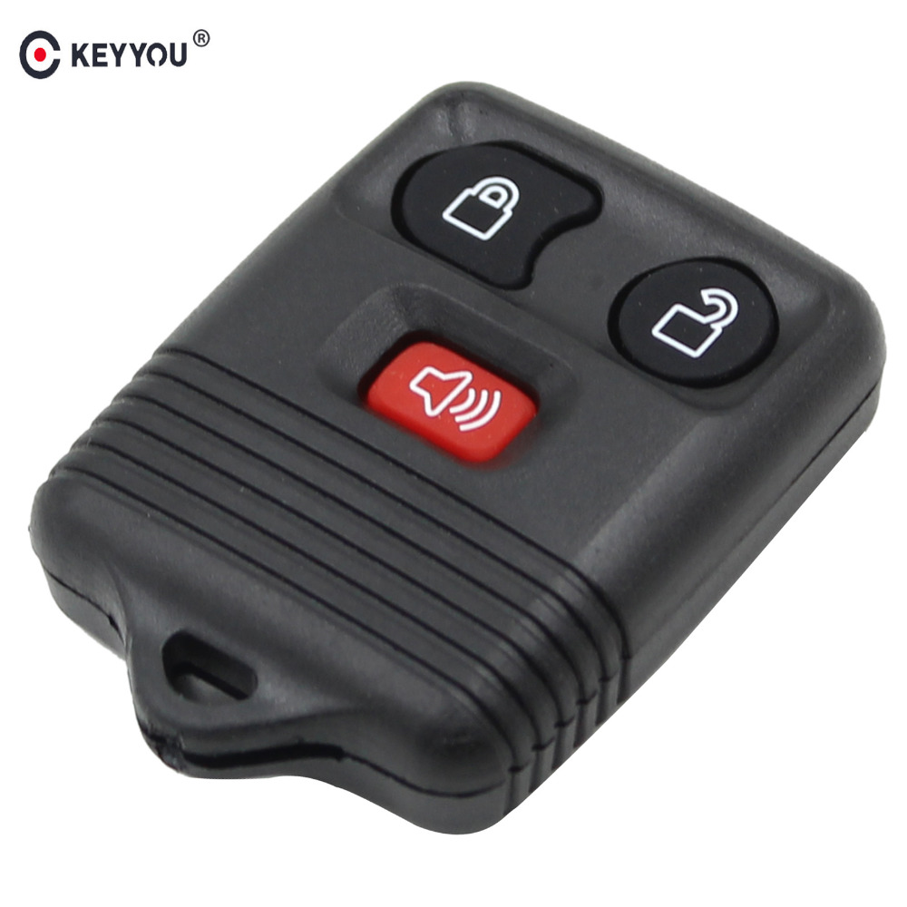 KEYYOU 3 Buttons 2+1panic Auto Remote Car Key Shell Case For Ford Fob Clicker Transmitter Control Case Cover Car-Styling image