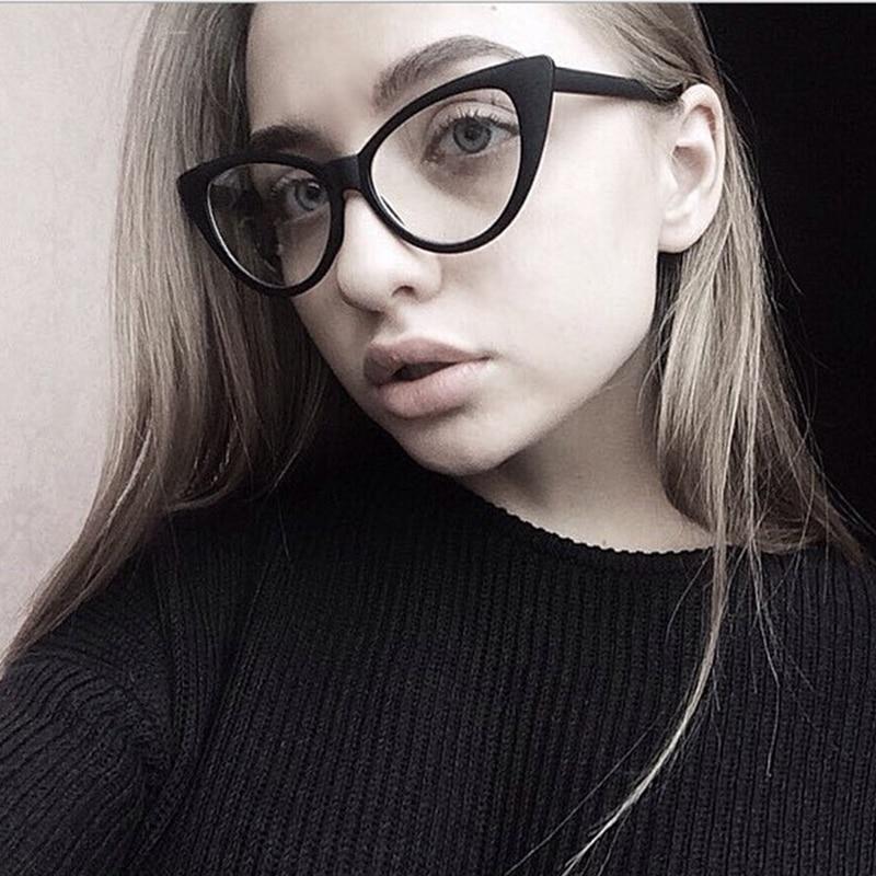 2019 Fashion Cheap Eyeglasses Sexy Cat Eye Optical Glasses Women Transparent Eyewear Brand Designer Vintage Clear Lens Frame