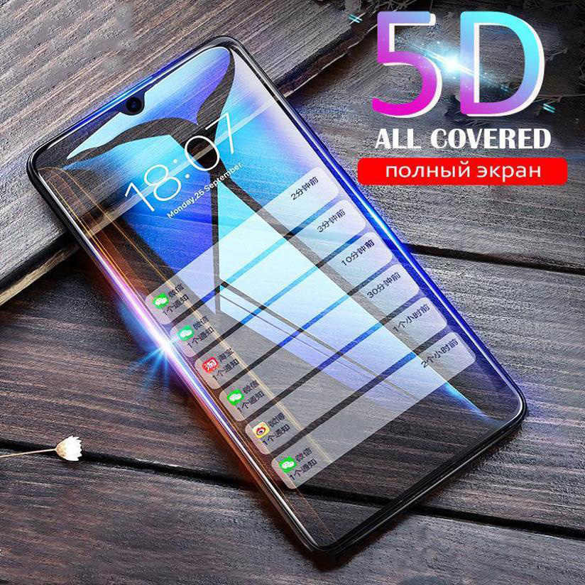 5D Full Glue Screen Protector Tempered Glass For Huawei Y5 Y6 Y7 2019 Y9 Y5 Lite Y6 Prime 2018 DUB-LX1 MRD-LX1F Protective Glass