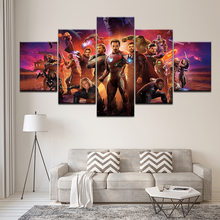 Children Room Canvas Painting Wall Art Prints 5 Pieces Movie Characters Poster Modular Avengers Pictures Home Decor For Framed