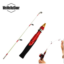 2 Sections Ice Fishing Rod Light-weight Winter Fishing Rod 50cm Mini Ice Feeder Fishing Pole Peche Shrimp