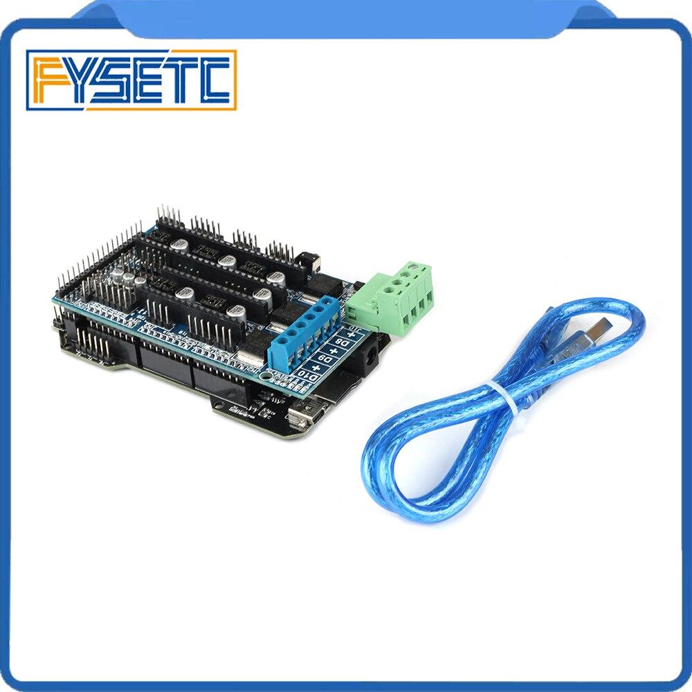 Imprimante 3D pièces RE-ARM carte de contrôle 32 bits mise à niveau Mega 2560 R3 carte mère + rampes 1.5 panneau de commande d'extension - 3