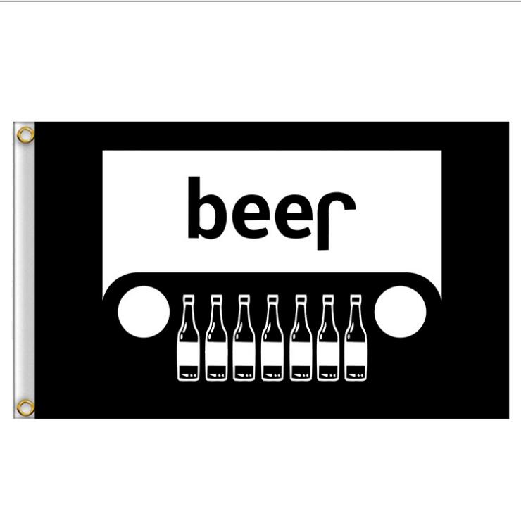 3X5FT BEER Black Flag Banner Unique Design For Advertising Promotion Holiday Celebrating Home House Wall Indoor Outdoor Decor