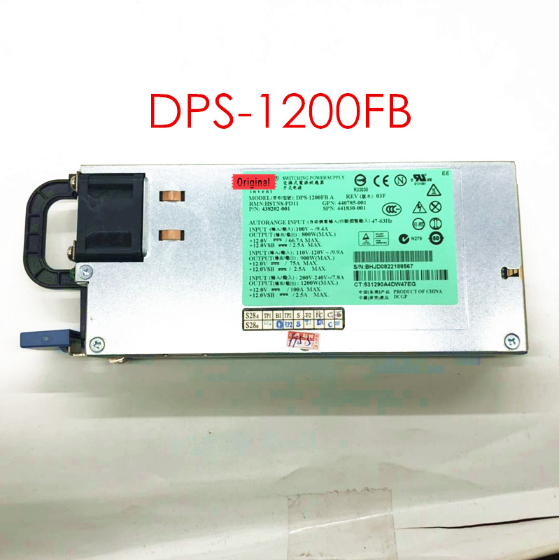 DPS 1200FB 438202 001 441830 001 1200W 80 90% new tested power DPS 1200FBA server power supply DL580G5 DL580 G5|Remote Controls| |  - title=