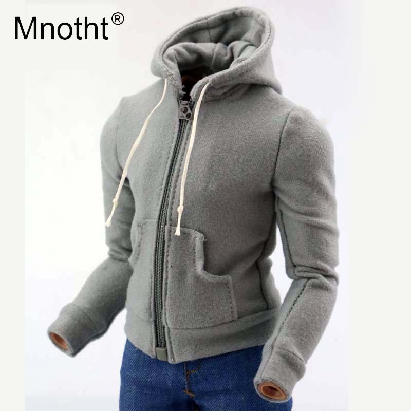 Mnotht 1:6 Scale Men Hooded sweater Model Fashion Male Soldier Clothes Model For 12in Action Figure Hobbies Collections m3