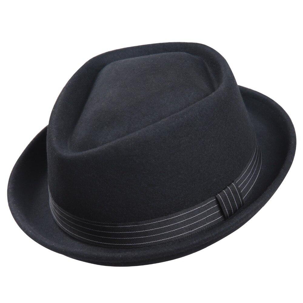 Image 3 - Sedancasesa New Europe England Style Autumn Winter Hat For Men Fedora Hat pork pie Mans Wool Felt Male Fedoras Vintage CapMens Fedoras   -