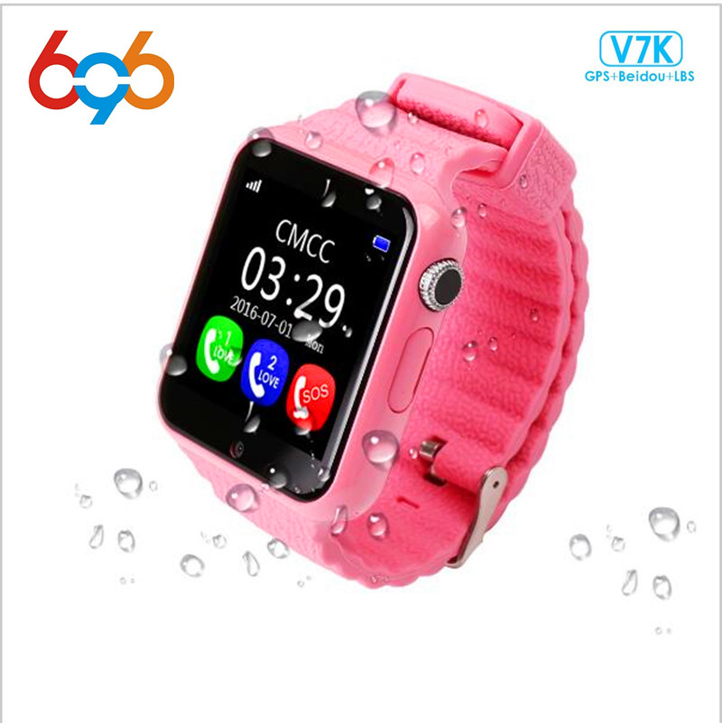 696 Children Security Anti Lost GPS Tracker Waterproof Smart Watch V7K 1.54 Screen Camera Kid SOS Emergency Android&IOS