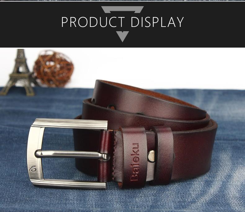 c356f926db4 ... BAIEKU 17 Newest designer belts men high quality cow genuine leather  vintage pin buckle ceinture mens ...