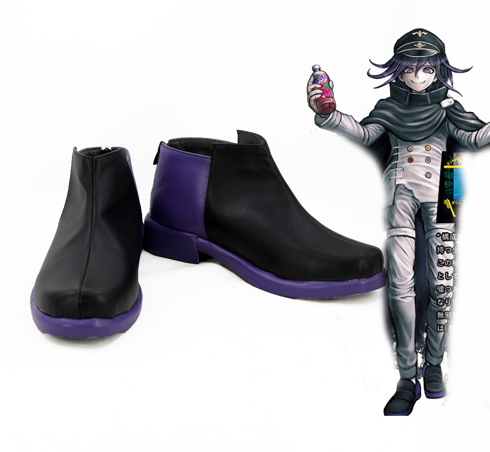 hot !!Danganronpa V3 Ouma Kokichi PU Cosplay shoes boots Custom-made MM