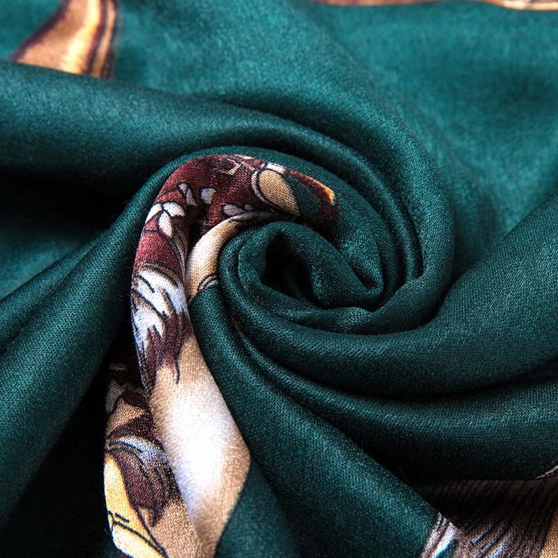 2019 Spring Mercerized cotton kaleidoscope Print large Square   scarf   Head   Scarves     Wraps   Luxury Brand Quality Female 140*140cm