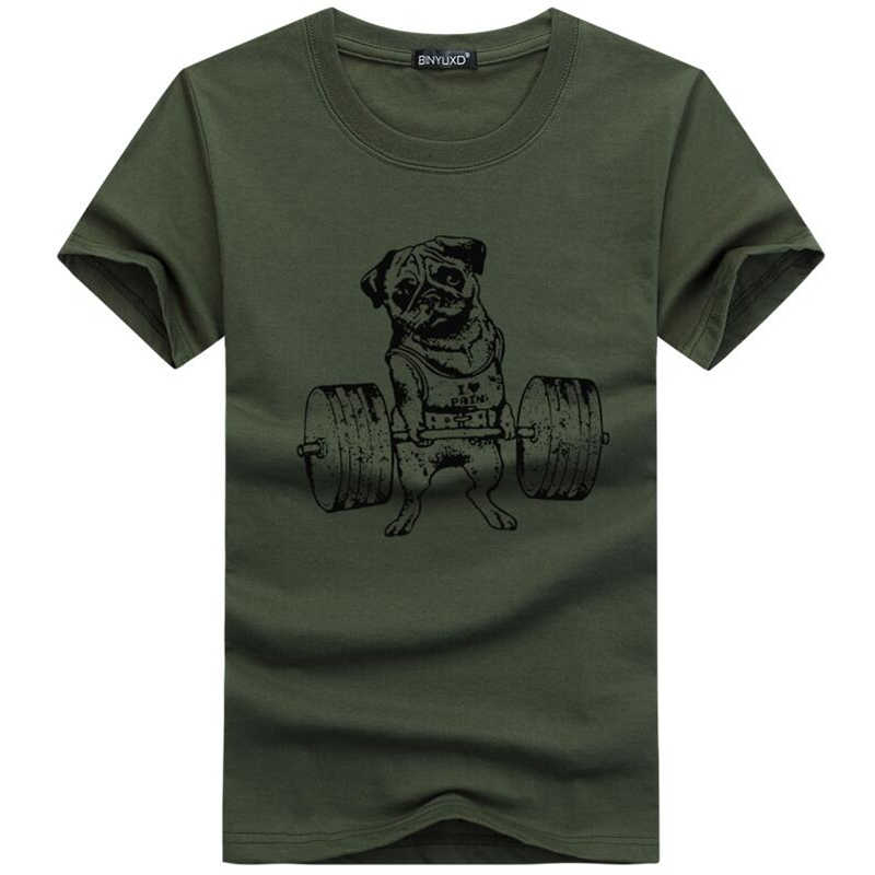 Men's T-shirt High-end Funny Fashion Pug Life t shirt men Summer Short sleeve Casual Brand Plus Size 5XL Tee shirt homme