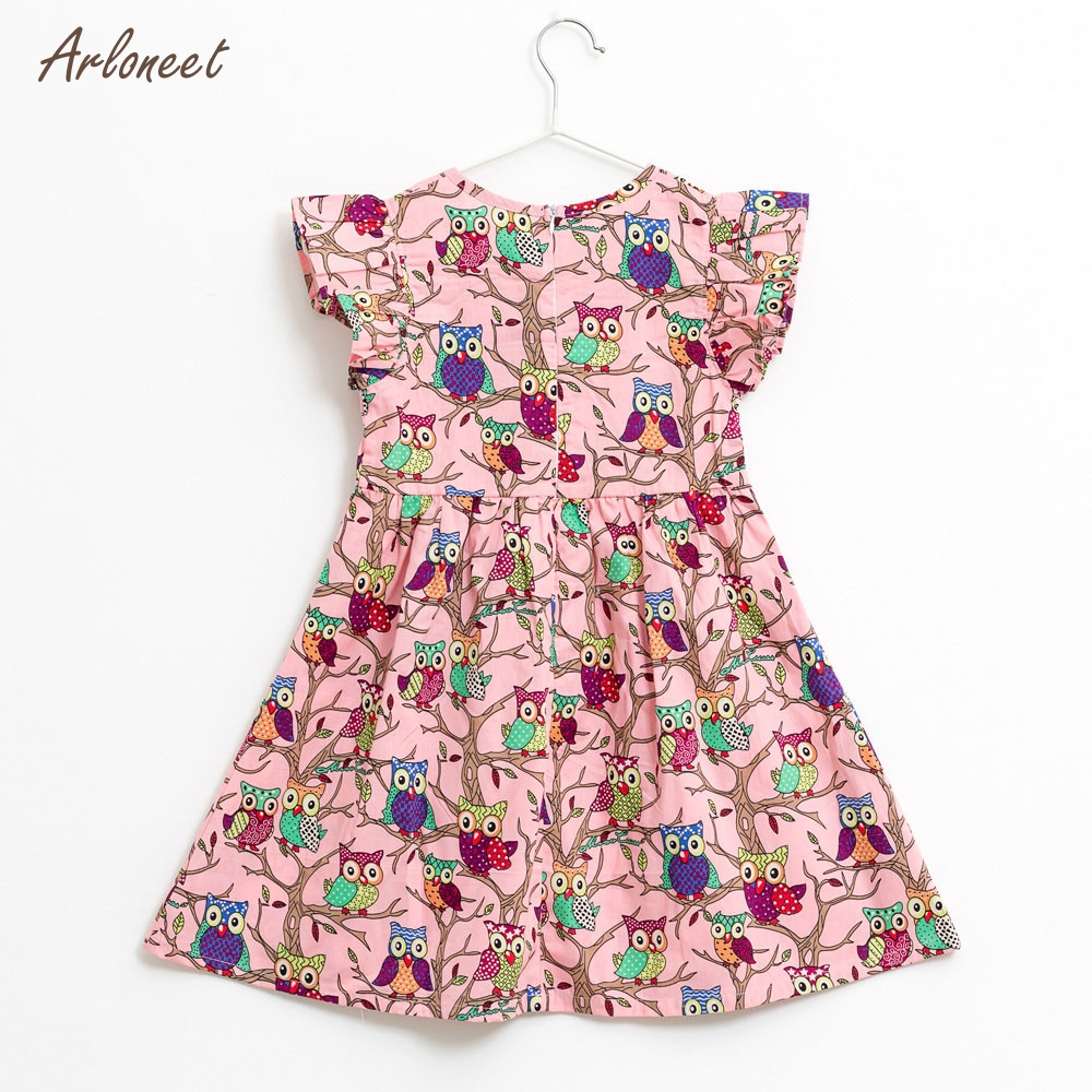 ARLONEET Baby Girls Kids Infant Toddle Floral Cartoon Sleeveless Clothes Princess Dress Dropshipping _F11
